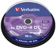 Диск DVD+R Verbatim box-10 4x 8.5Gb Double layer 43666