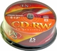 Диски CD-RW VS 4-12x Cake box/25