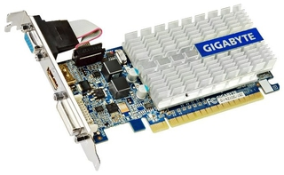 Видеокарта 1Gb Gigabyte GT210 with CUDA GV-N210SL-1GI